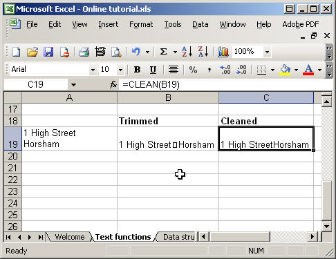 Using Excel Text Functions Part 2